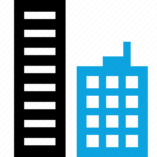 buildings, business, online, web icon