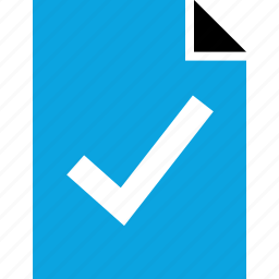 business, check, document, mark, online, web icon