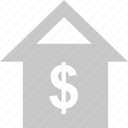 business, dollar, home, online, web icon