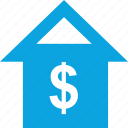 business, dollar, home, house, online, web icon