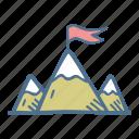 business, finance, goal, idea, mountains