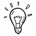 bulb, business, finance, goal, idea, light