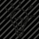 bulb, business, finance, goal, idea, light icon