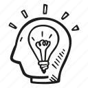 bulb, business, finance, goal, idea, light, mind