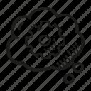 business, finance, goal, idea, technical icon
