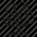 business, finance, goal, idea, tree icon