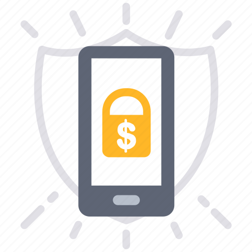 business, mobile, money, payment, protect, secure, security icon