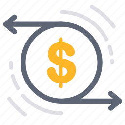 business, exchange, finance, flow, investment, money, transfer icon