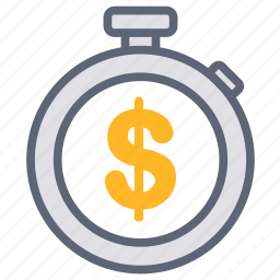 business, clock, finance, investment, money, stopwatch, time icon