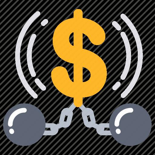 bind, chain, finance, interest, money, obligation, trammel icon