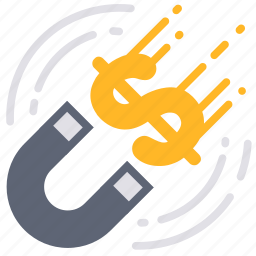 finance, financial, investment, investor, magnet, money, profit icon
