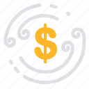 business, cash, cash flow, currency, finance, investment, money icon