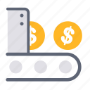 business, dividend, finance, financial, investment, machine, money icon
