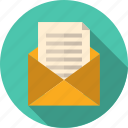 business, email, envelope, inbox, letter, mail, mailing, message, newsletter, notification, open, receive, text icon