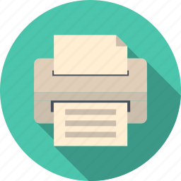 business, computer, copy, copying, device, doc, document, ink, laser, office, page, paper, press, print, printer, printing, printout, technology icon