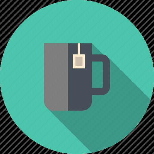 beverage, breakfast, coffee break, cup, drink, hot, label, lipton, morning, mug, office, tea, teabag icon