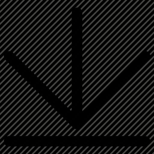 arrow, control, down, download, guardar, save icon