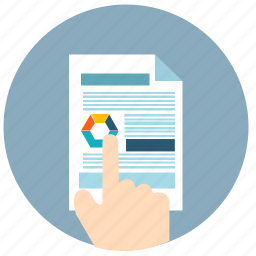 business, chart, document, finance, financial, paper, report icon