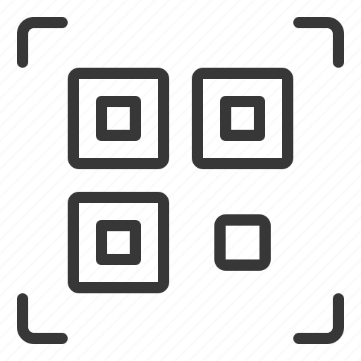 business, code, qr code, scan icon