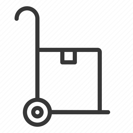 business, cart, cart box, delivery icon