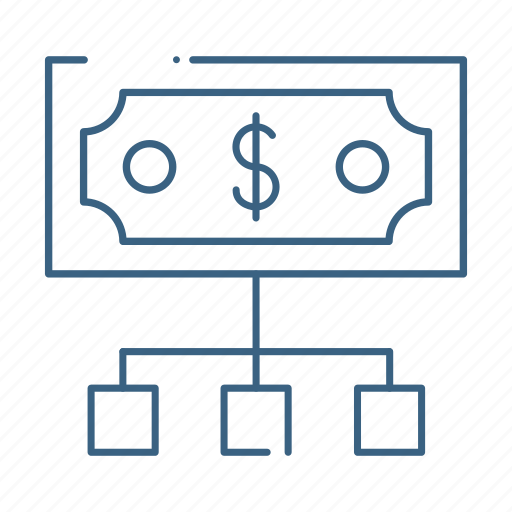 banking, business, dollar, money, network icon