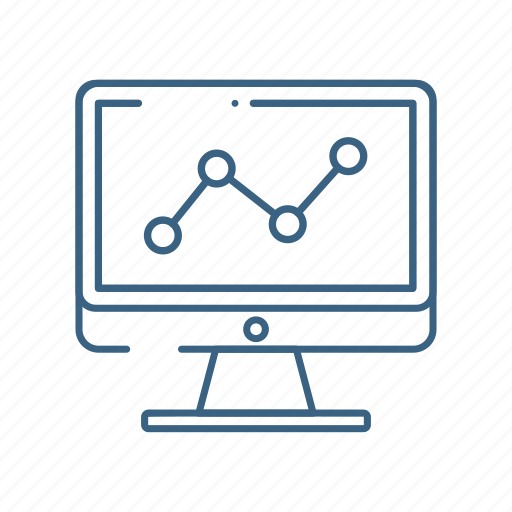 analytics, business, computer, graph icon