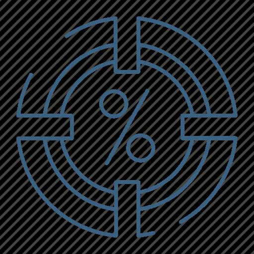 business, office, percentage, progress icon