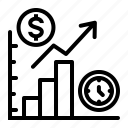 business, chart, finance, money, recession, report, statistics icon
