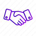 agreement, business, deal, hand, handshake, shake icon