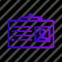 business, card, id, identity icon