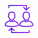 exchange, hierarchy, management, people icon