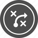 business, plan, strategy, tactics icon