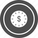 clock, is, money, time icon