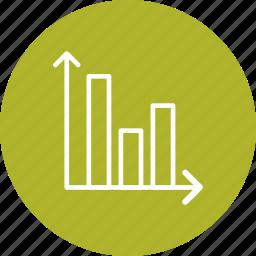 analysis, bar, chart, graph icon