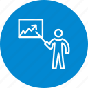 graph, lecture, presentation, statistics icon