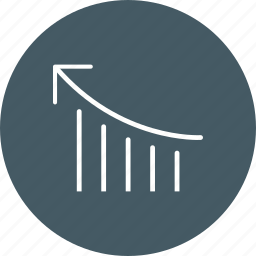 analysis, bar chart, performance, productivity icon