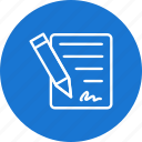 agreement, business, contract, document icon