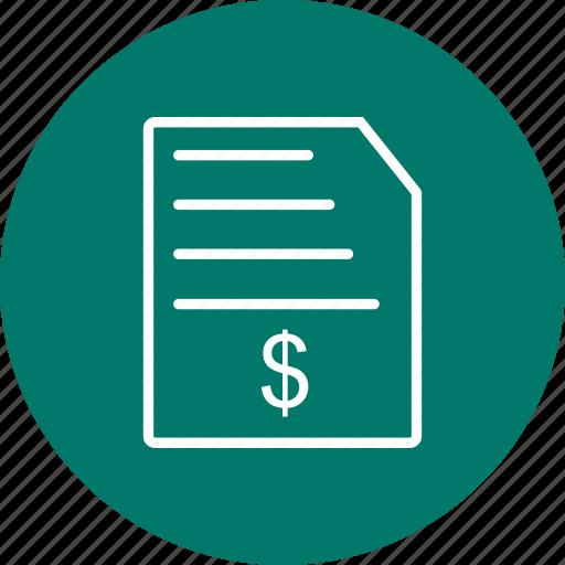 bill, invoice, order, receipt, report icon