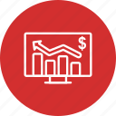 analysis, analytics, business chart, graph icon