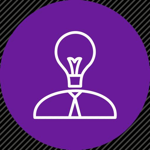 business, creative man, creativity, idea icon