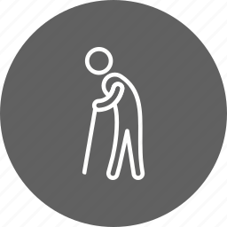 old man, pension, retired, retirement icon