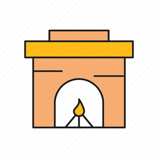 Chimney, fireplace, interior icon - Download on Iconfinder