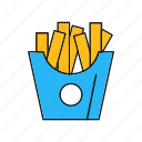 french, fries, potato icon