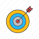 darts, goal, target