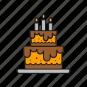 anniversary, birthday, cake, candle, celebration, happy