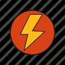 flash, lightning, thunder