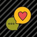 love, message, valentine icon