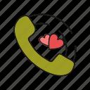 love, phone, relationship, romance icon