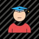graduation, male, man, student