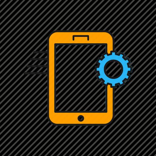 application, mobile, setting icon